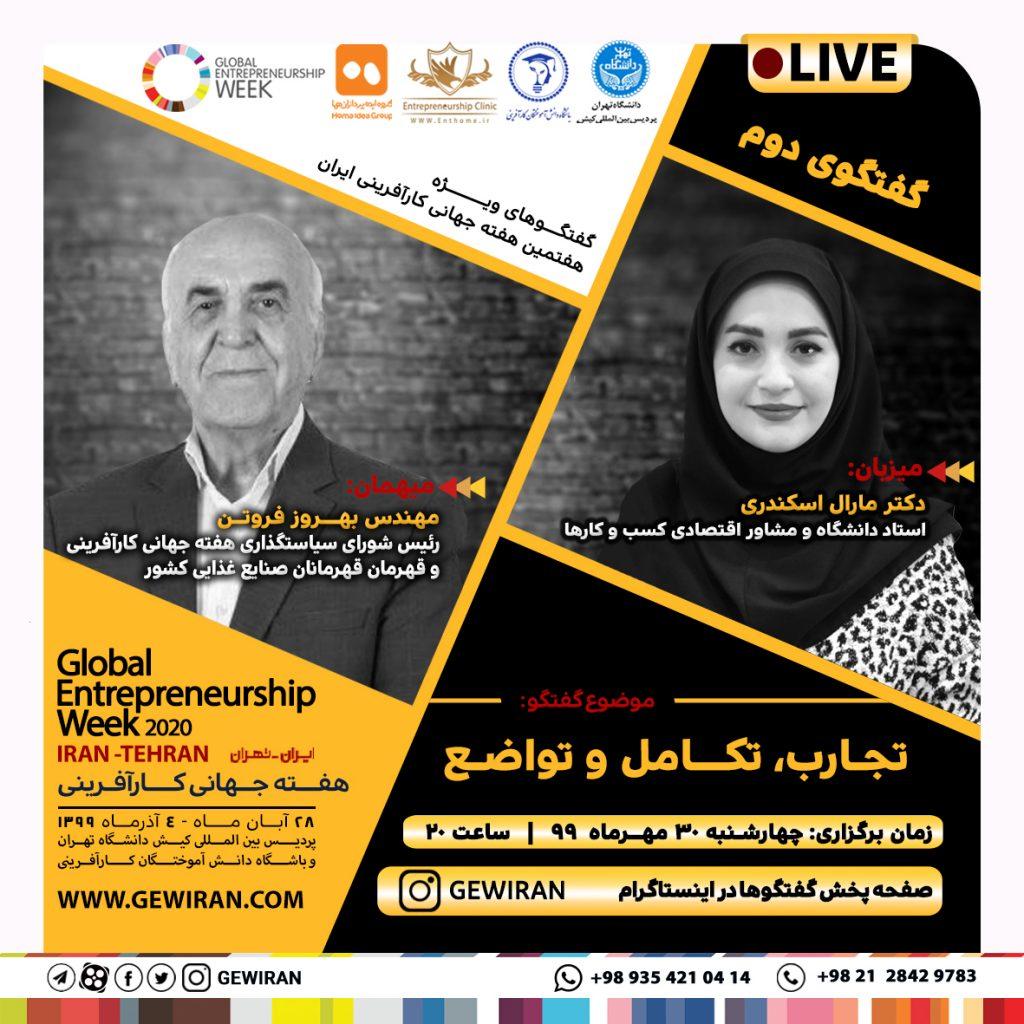 مهندس بهروز فروتن - رئیس شورای سیاستگذاری هفته جهانی کارآفرینی